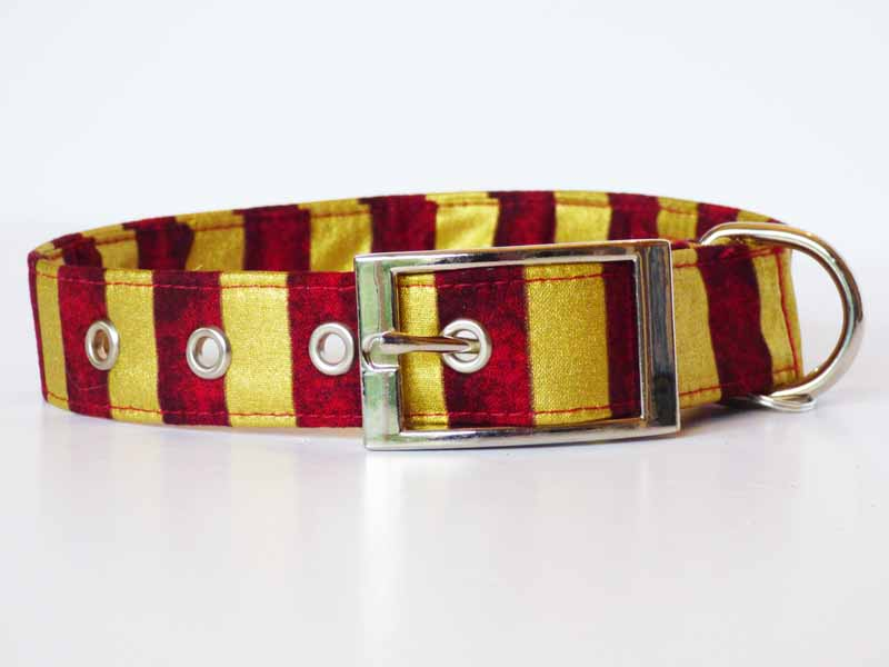 "Designer Metal Buckle Dog Collar ""Wizardry"" by Mabel & Mu"