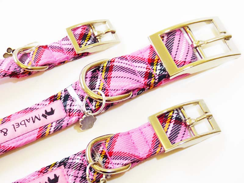 "Designer Metal Buckle Dog Collar ""Wildflower"" by Mabel & Mu"