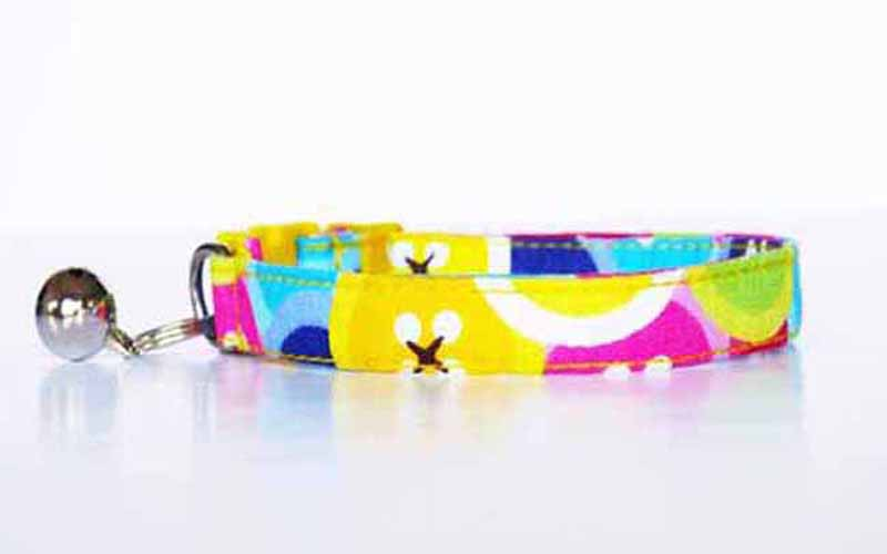 "Designer Cat & Dog Collar Range ""Buttoned Up"" by Mabel & Mu"