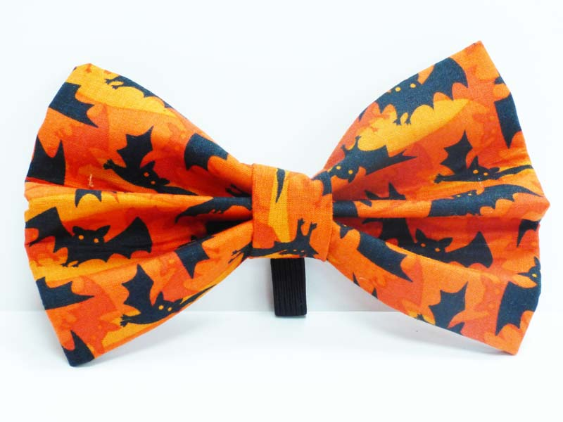 "Dog & Bow Tie ""Bats Galore"" Orange"