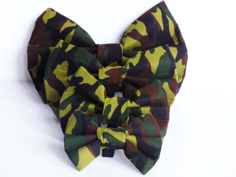 "Dog Collar Bow / Bow Tie  ""Camo"""