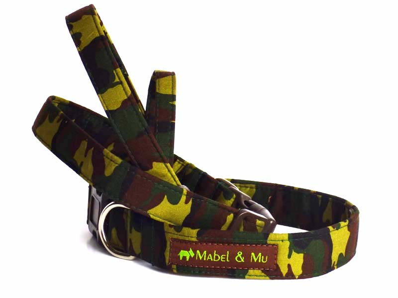 "Designer Dog Collar ""Camo"" by Mabel & Mu"