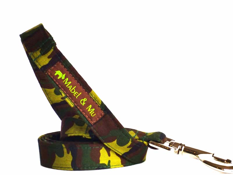 "Designer Dog Lead ""Camo"" by Mabel & Mu"