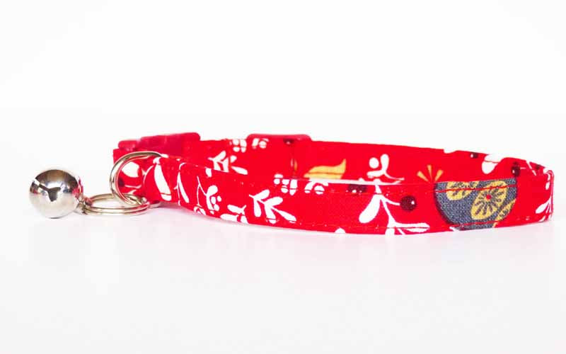"Cat & Kitten Collar ""Berrylicious"" Range by Mabel & Mu"