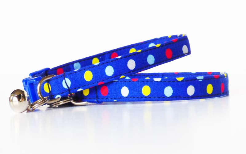 """Bertie Blue"" Cat & Kitten Collar by Mabel & Mu"