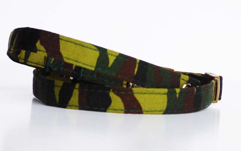 "Cat & Kitten Collar ""Camo"" by Mabel & Mu"