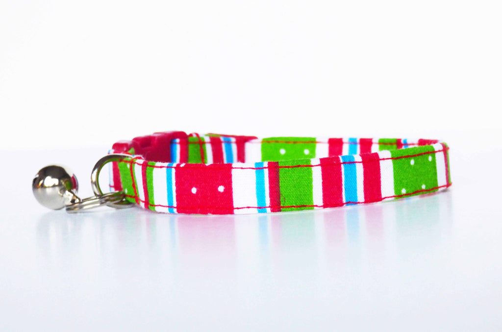 "Dog & Cat Cat Collar ""Soda Pop"" by Mabel & Mu"