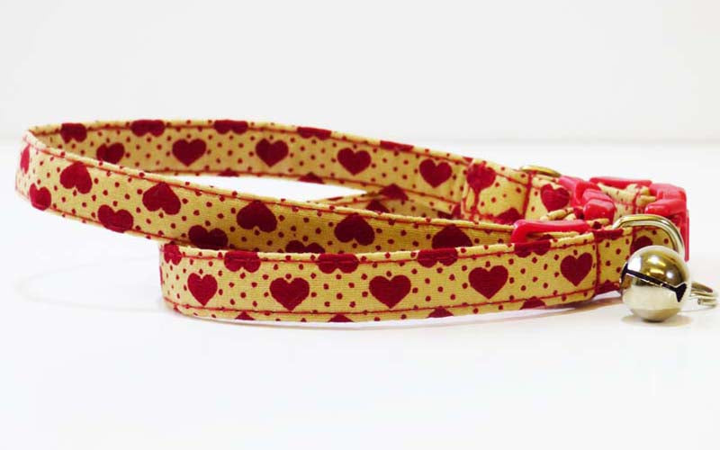 "Designer Cat Collar Range ""Love is..... Beige"" by Mabel & Mu"