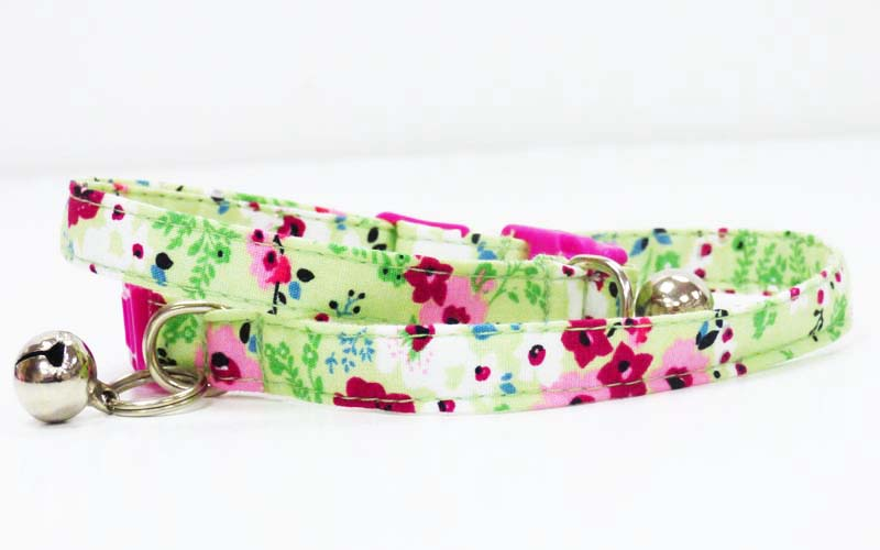 "Cat & Kitten Collar ""Meadow' - Mabel & Mu"