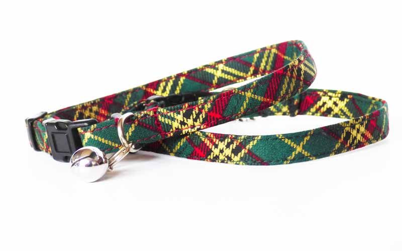 """Winter Pine"" Range of Dog & Cat Collars by Mabel & Mu"