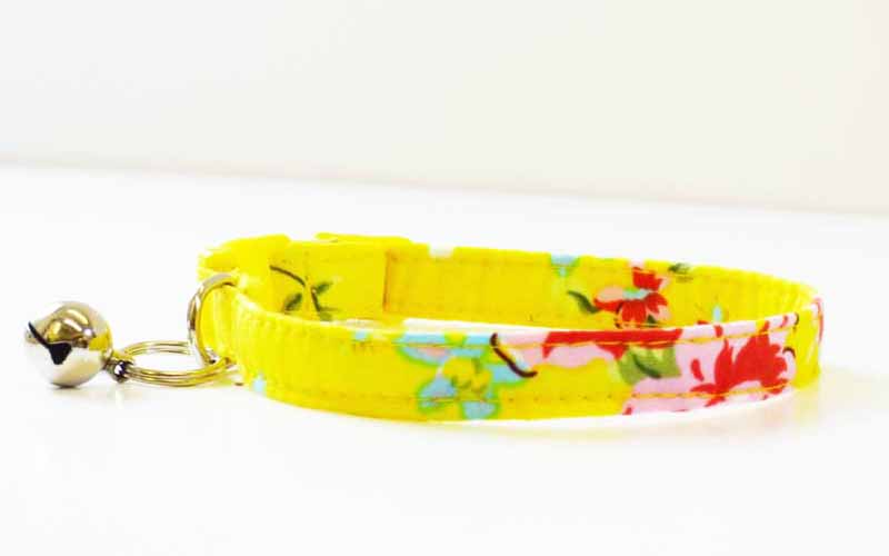 "Cat & Kitten Collar ""Lemon Drizzle"" by Mabel & Mu"