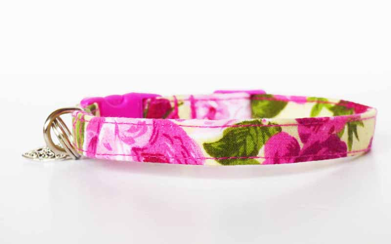 """Vintage Rose"" Cat & Kitten Collar Range by Mabel & Mu"