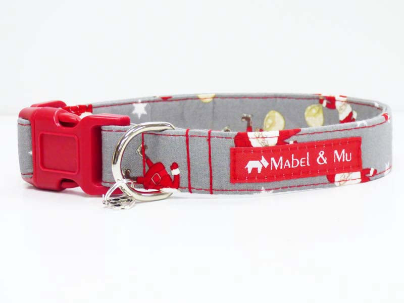 "Designer Dog Collar ""Oh Santa"" Range by Mabel & Mu"