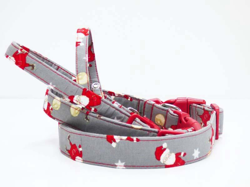 "Designer Dog Collar Range ""Oh Santa"" by Mabel & Mu"