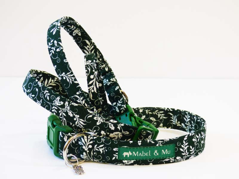 "Designer Dog Collar ""Holly"" by Mabel & Mu"