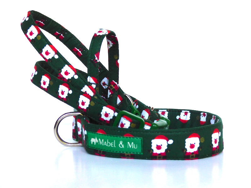 Green Santa Dog Collar range by Mabel & Mu