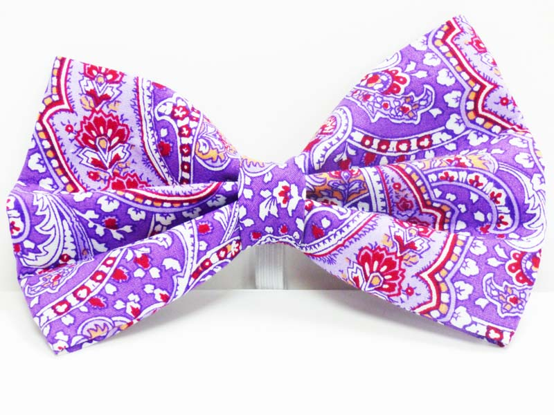 "Cat Bow Tie ""Lavender Scent"" by Mabel & Mu"