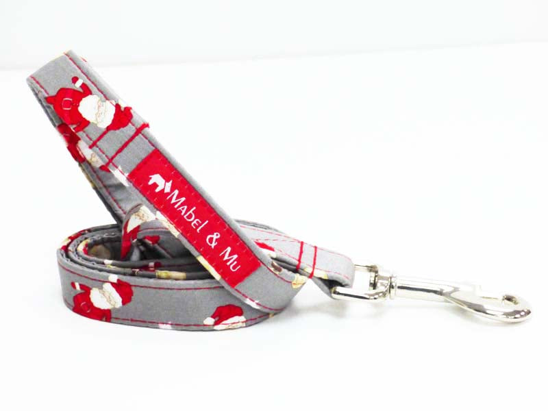 "Designer Dog Lead ""Oh Santa"" by Mabel & Mu"