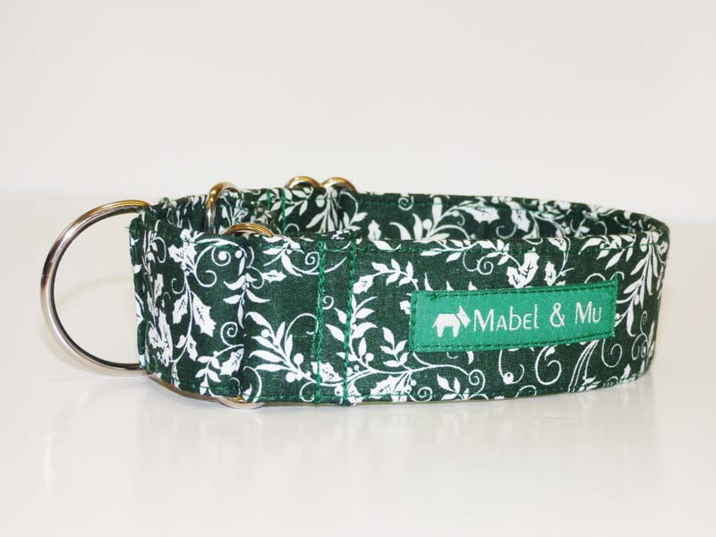 "Designer Martingale collar ""Holly"" by Mabel & Mu"