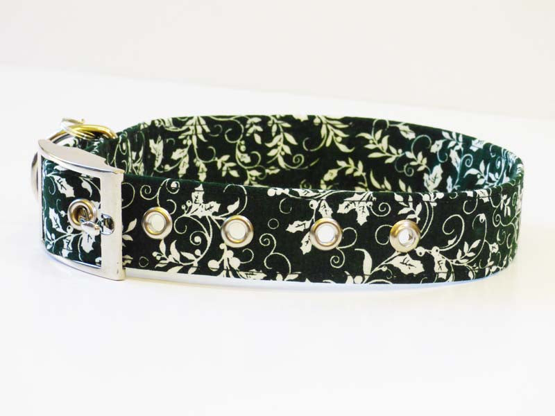 "Designer Metal Buckle Dog Collar ""Holly"" by Mabel & Mu"