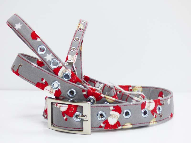 "Designer Metal Dog Collar ""Oh Santa"" by Mabel & Mu"