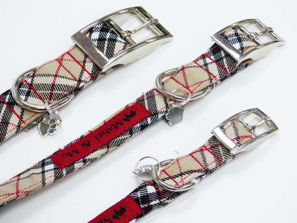"Designer Metal Clasp Dog Collar Range ""Beach Walks"" by Mabel & Mu"
