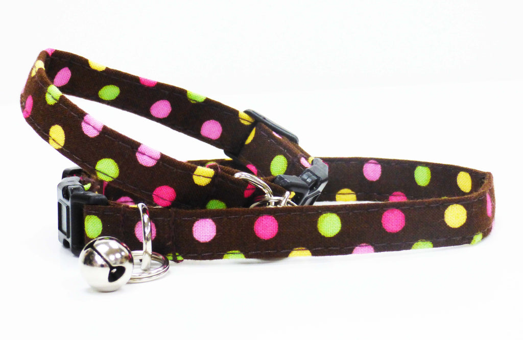 "Designer Cat Collar Range ""Choc Chip"" by Mabel & Mu"