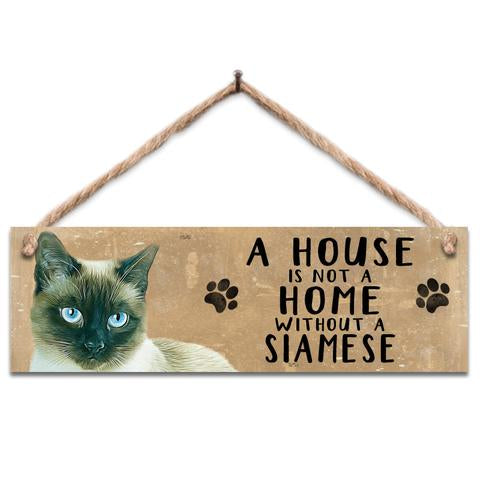 "Rustic Wooden Sign ""Siamese"" @ Mabel & Mu"