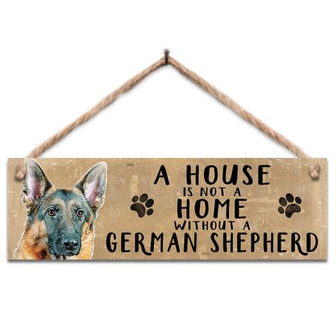 "Rustic Wooden Sign ""German Shepherd"" @ Mabel & Mu"