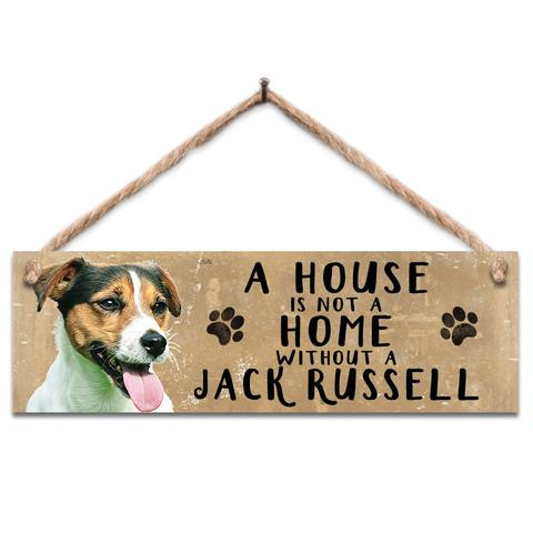 "Rustic Wooden Sign ""Jack Russell"" @ Mabel & Mu"
