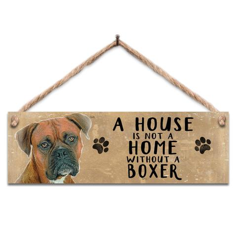 "Rustic Wooden Sign ""Boxer"" @ Mabel & Mu"