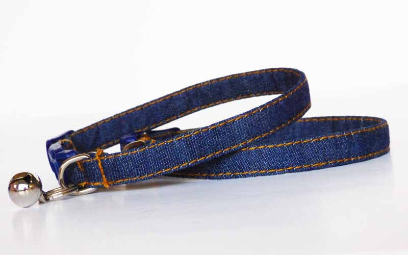 "Designer Cat Collar ""Designer Cat Collar ""Ol Rag Blues"" by Mabel & Mu"