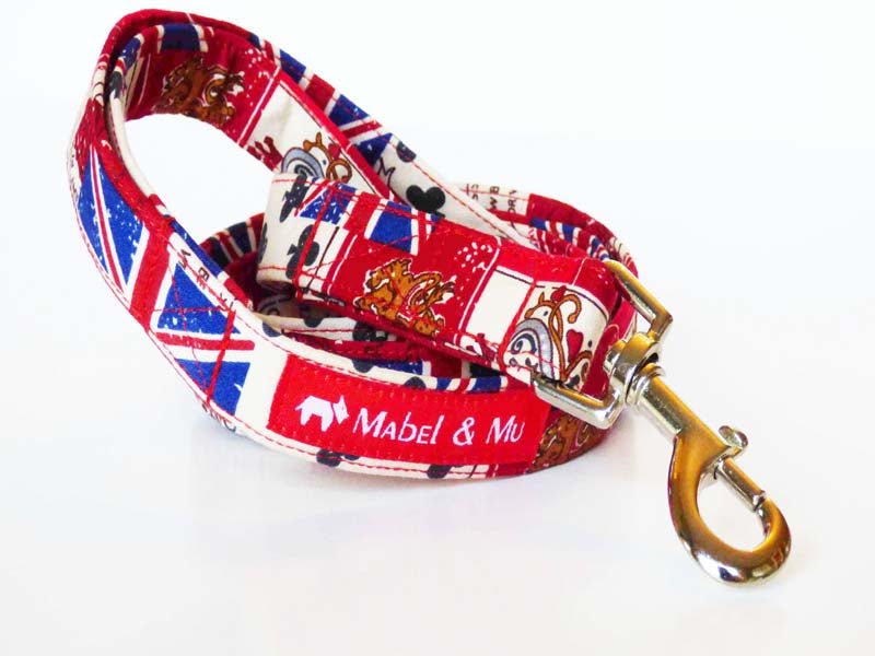 "Dog Walking Lead ""Vintage Britain"" Range by Mabel & Mu"