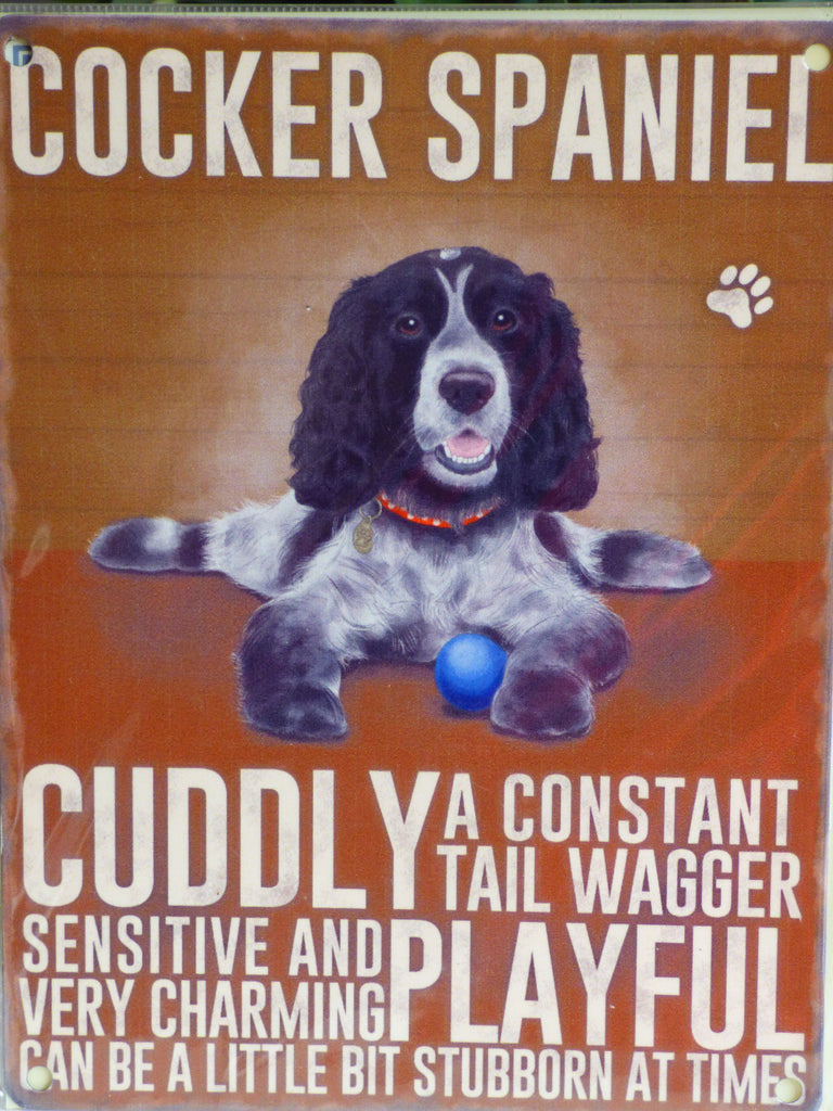 Cocker Spaniel Metal Pet Sign - Mabel & Mu