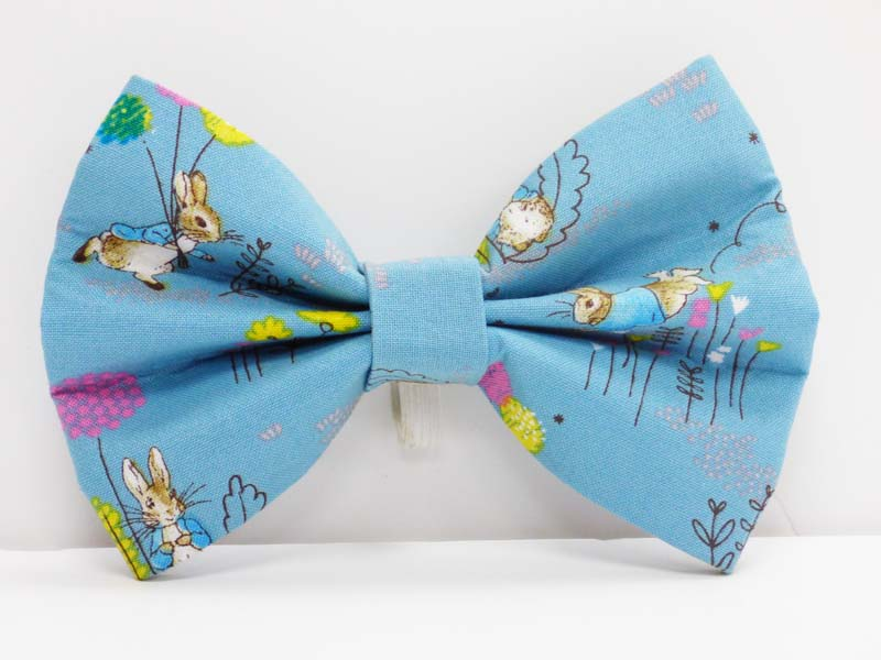 "dog Bow Tie ""Peter rabbit balloons"" by Mabel & Mu"