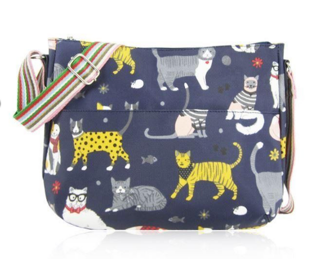 Fun Cat Oil Cloth Crossbody bag - Mabel & Mu