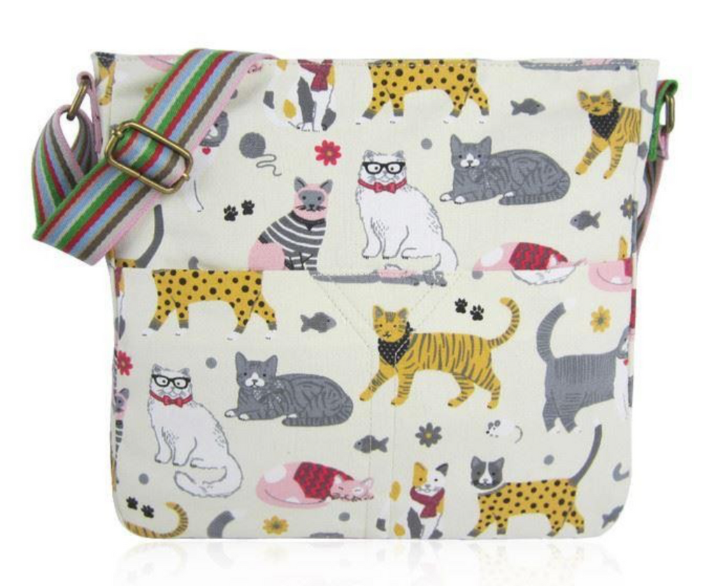 Fun Cat Canvas Cross Body - Mabel & Mu