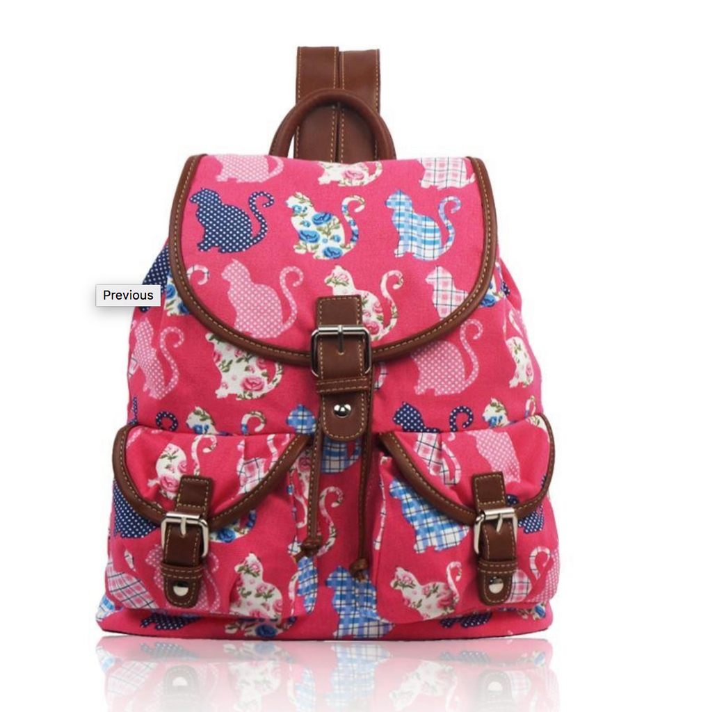 Canvas Ruc Sac Kitty Design - Mabel & Mu