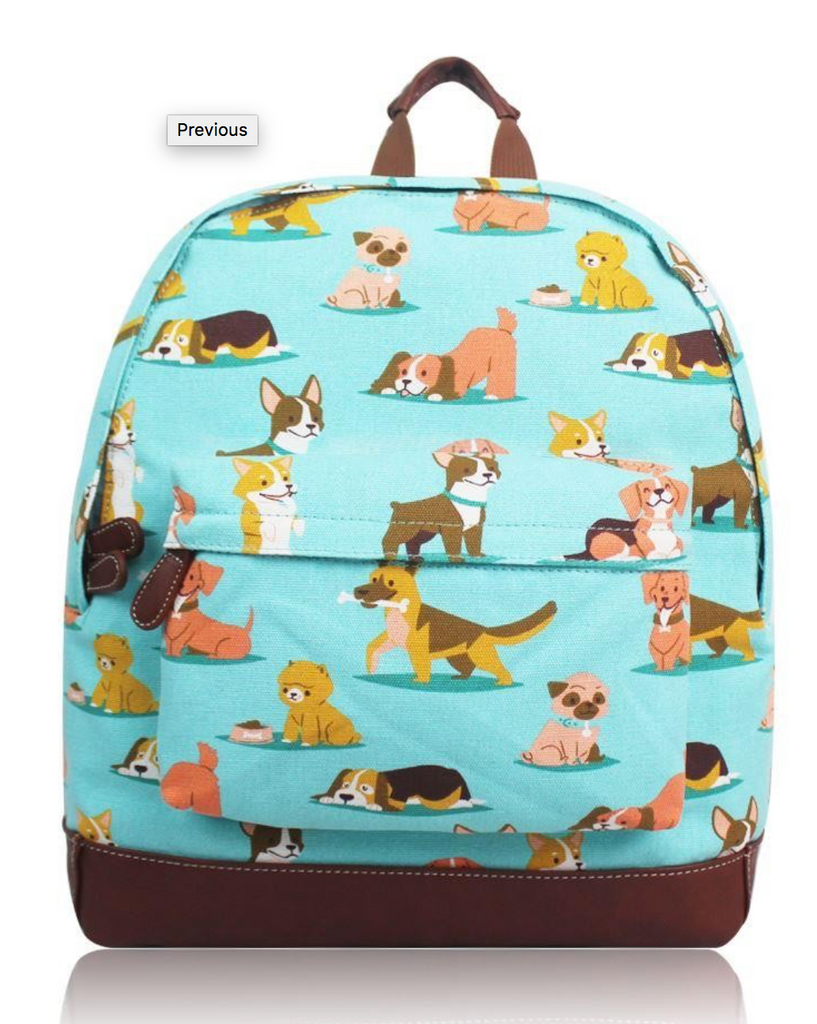 Canvas Ruc Sac Fun Dog Design - Mabel & Mu