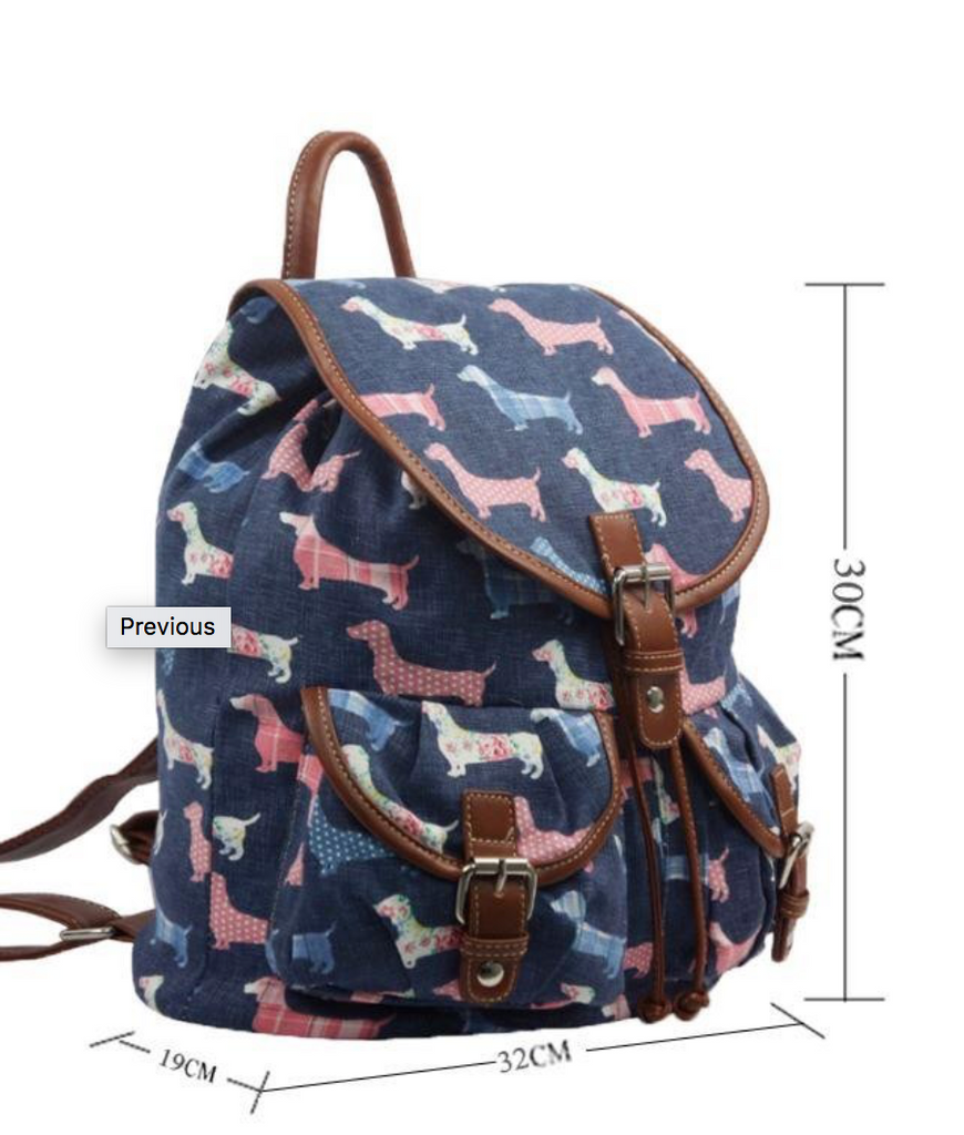 Dachshund Dog Oil Cloth Bag - Mabel & Mu