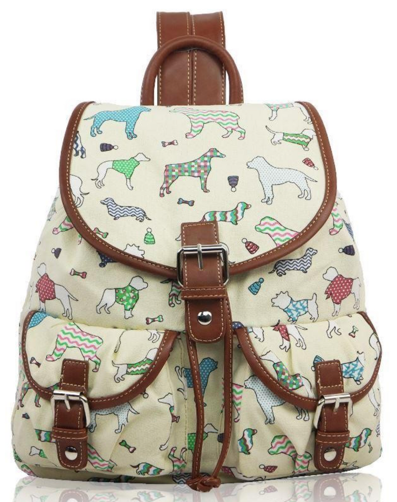 Canvas Ruc Sac Dog Design - Mabel & Mu