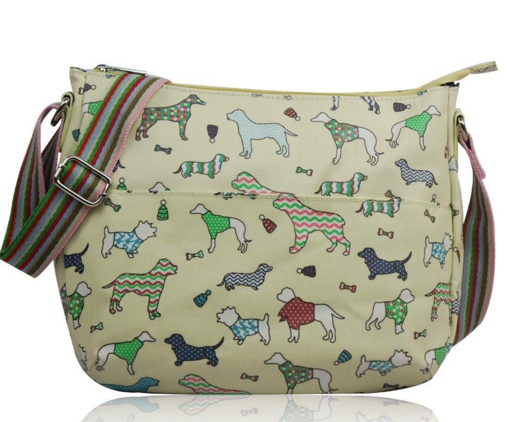 Dog Print Canvas Cross body - Mabel & Mu