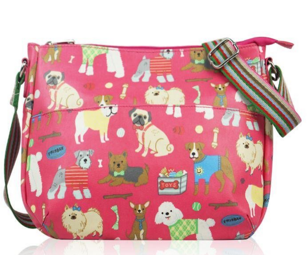 Dog Print Cross Body Oil Cloth - Mabel & Mu