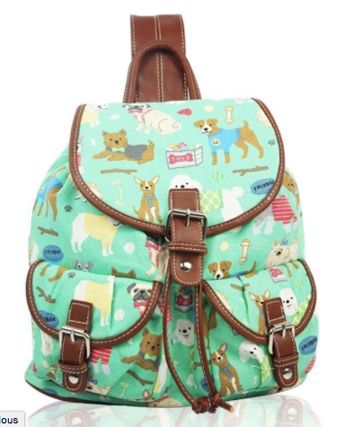Mixed Dog Canvas Ruc Sac  - Mabel & Mu
