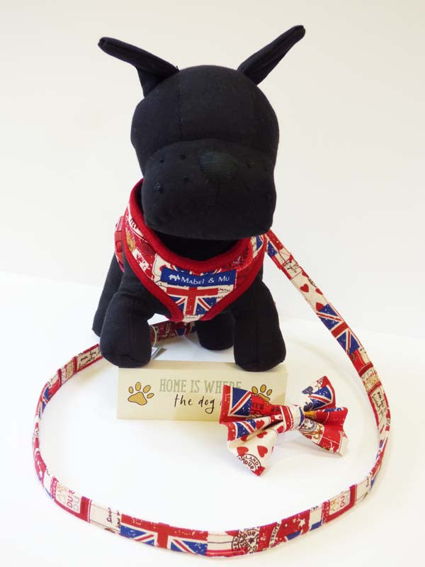 "Dog Harness ""Vintage Britain"" by Mabel & Mu"