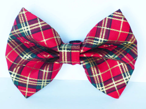 "Dog & Cat Collar Bow / Bow Tie  ""Winter Robin"""
