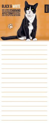 """Black & White Cat"" Memo Pad @ Mabel & Mu"
