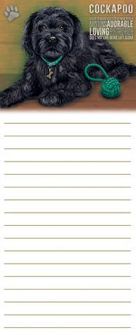 "Memo / Shopping List Pad ""Black Cockapoo"""