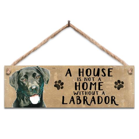 "Rustic Wooden Sign ""Black Lab"" @ Mabel & Mu"
