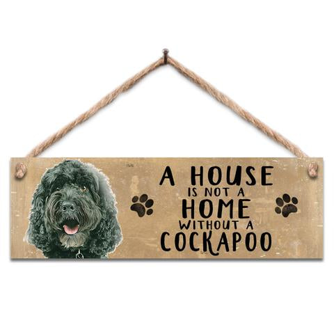 "Rustic Wooden Sign ""Black Cockapoo"" @ Mabel & Mu"